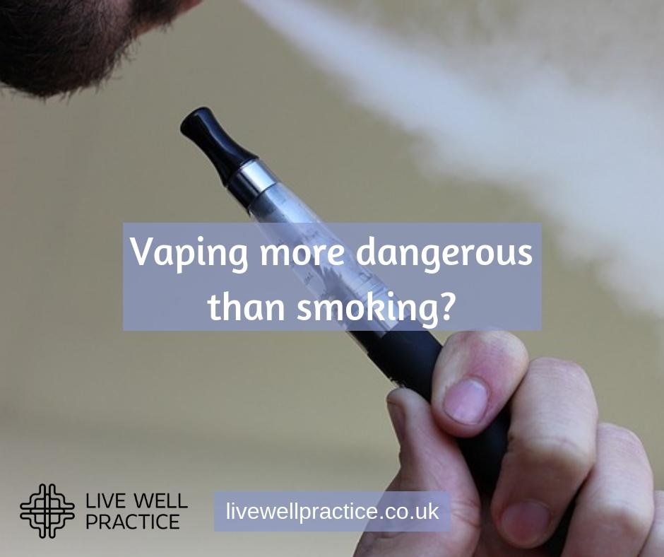 vaping more dangerous than smoking