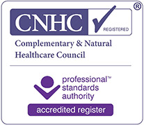 Accredited by The Complementary and Natural Healthcare Council (CNHC)